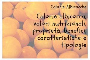 Calorie Albicocca
