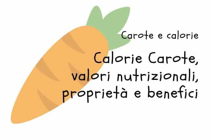 Calorie Carote