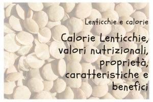 Calorie lenticchie