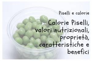 Calorie Piselli
