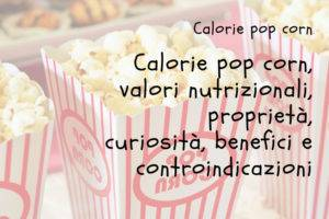 Calorie Pop Corn