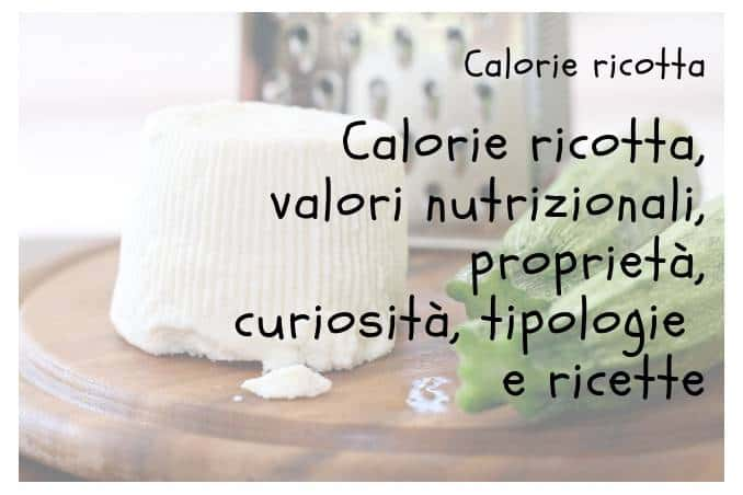 Calorie ricotta