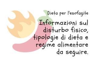 Dieta per l'esofagite
