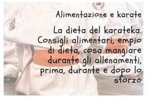 Dieta e alimentazione karate