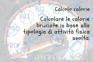 Calcolo delle calorie nelle varie attività sportive