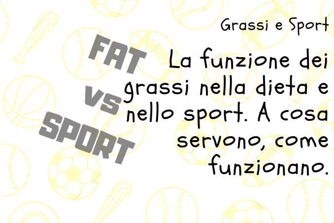 Relazione tra grassi e prestazione sportiva